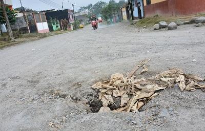 En el barrio La Merced le temen a la lluvia