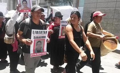 Liberan a indígenas de Saraguro detenidos en protesta
