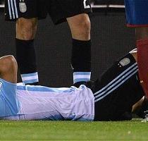 Sergio Agüero cree que estará un mes de baja por lesión