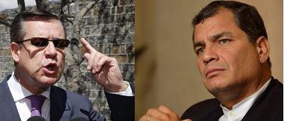 Rafael Correa dice que no quiere perder su tiempo y Páez le responde