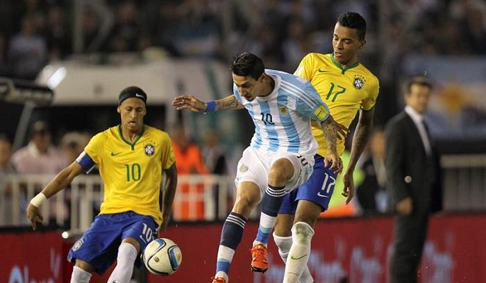 Argentina y Brasil no pasaron del empate 1-1 en el Monumental de Buenos Aires