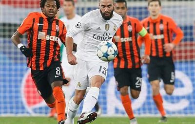 Real Madrid vence 4 - 3 al Shakhtar que despertó en el segundo tiempo