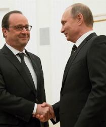 Putin y Hollande acuerdan coordinar acciones contra Estado Islámico en Siria