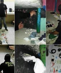 Escondían droga en una pared del Centro de Rehabilitación Social de Santo Domingo