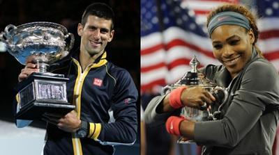 Novak Djokovic y Serena Williams dominaron el año de la irrupción de Garbiñe