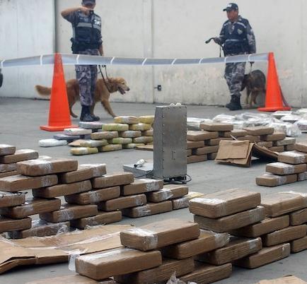 Ecuador decomisó 402 toneladas de droga en últimos 8 años, la mayoría cocaína