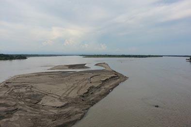 Hay alerta roja  por sequía en dos ríos