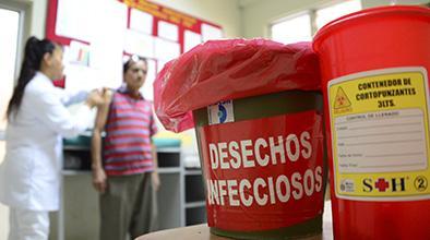 Unos 33 mil kilogramos de desechos infecciosos se recolectan cada mes