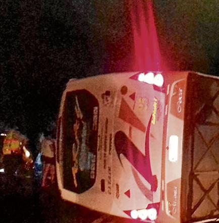 34 Personas heridas en dos accidentes