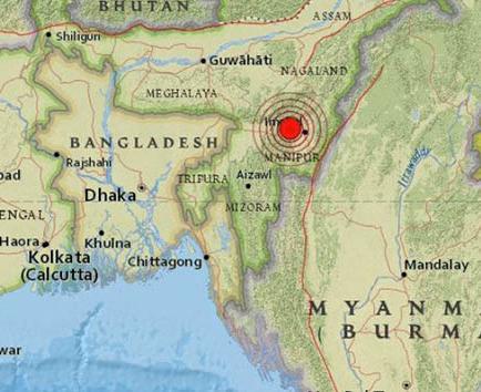 Terremoto de 6,7 grados sacude India y Birmania