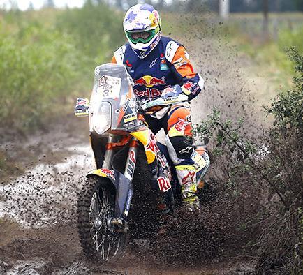 Toby Price lidera en motos el Dakar