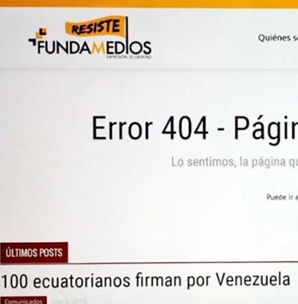 Web de Fundamedios fue suspendida y Secom  rechaza acusación
