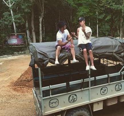 Justin Bieber se divierte en la Riviera Maya