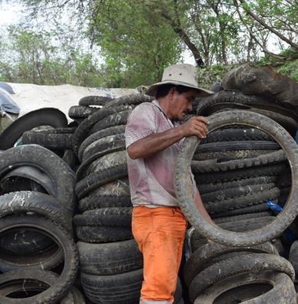 Construyen centro de acopio de neumáticos para la mancomunidad