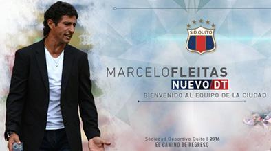 Fleitas es el nuevo técnico del Dep. Quito