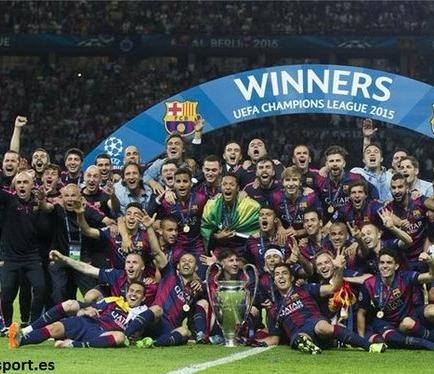 El Barcelona es designado el Mejor Club de 2015, según la IFFHS