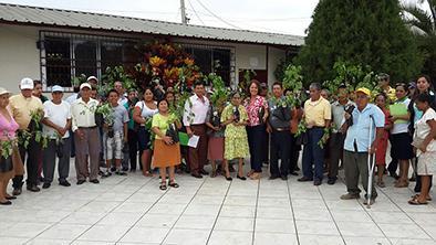 Adultos mayores del cantón recibieron 300 plantas de moringa