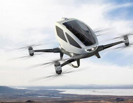 Una firma china presenta un dron capaz de transportar personas