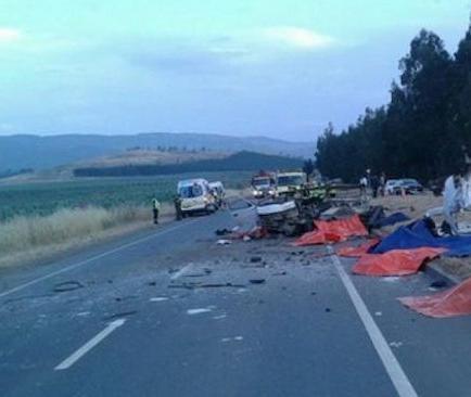 Nueve muertos y dos heridos en un accidente de tráfico en Chile