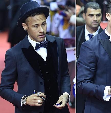 Así vistieron los mejores del fútbol en la gala del Balón de Oro