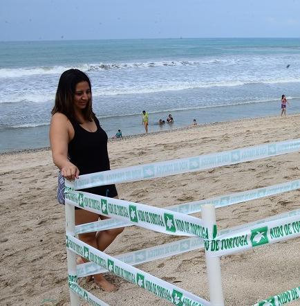 Los nidos de tortuga  corren riesgo en la  playa por los aguajes