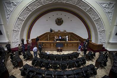 Tensión en el parlamento Venezolano
