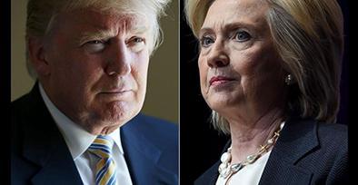 Trump y Clinton siguen liderando encuestas en carrera presidencial