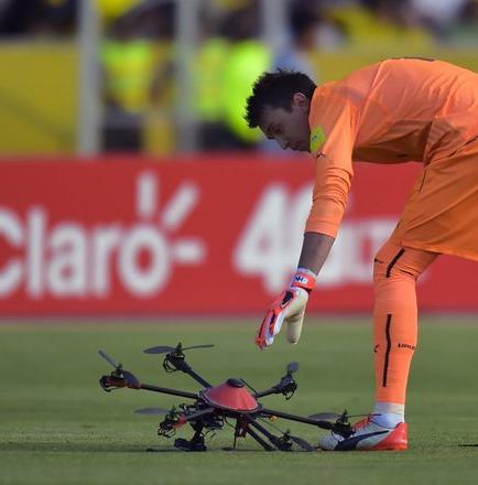 La FEF recibió multa de la FIFA por caída de drone en el Atahualpa