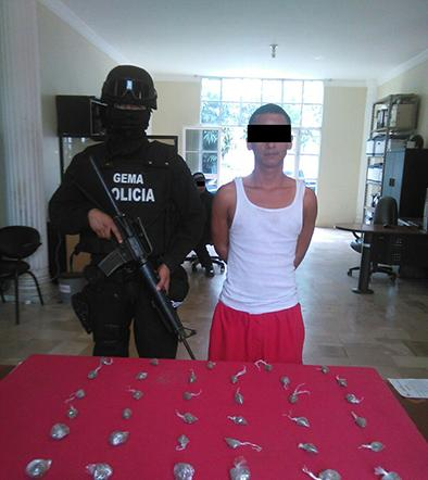 Detienen a un presunto  traficante de drogas