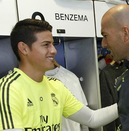 Zinedine Zidane estaría descontento con James Rodríguez