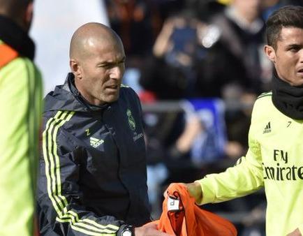 Zidane: 'Tengo al mejor del mundo, que es Cristiano'