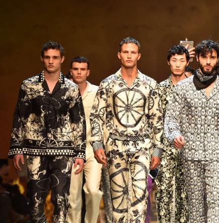 Dolce & Gabbana lleva el 'Spaghetti western' a la moda masculina en Milán