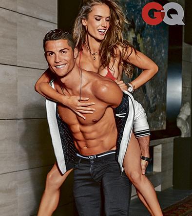 Cristiano Ronaldo y Alessandra Ambrosio presumen sus cuerpos