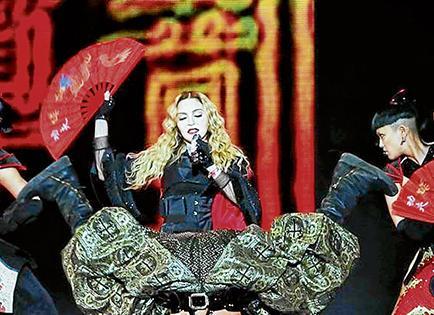 Madonna dio un  concierto en estado de ebriedad en Louisville