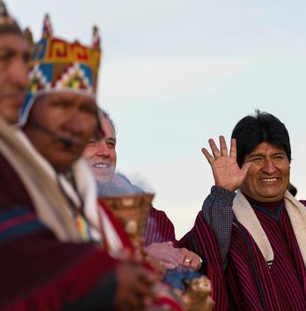 Evo Morales agradece a la Pachamama por su década en la presidencia de Bolivia