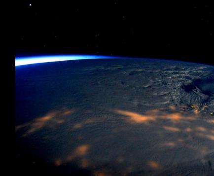 Un astronauta tuitea fotos de la gran tormenta en EE.UU. desde la EEI