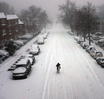 Gran tormenta de nieve y viento paraliza la costa este de EE.UU.