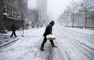 Bloqueados por tormenta de nieve