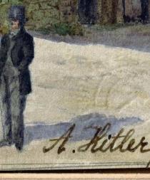 Subastan 16 acuarelas atribuidas a Hitler por más de $40 mil