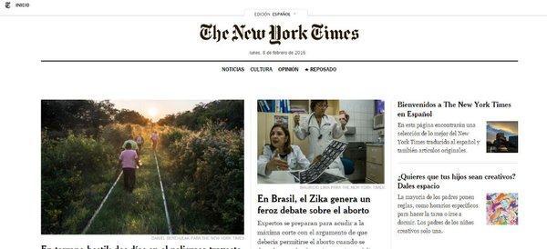 El New York Times busca conquistar a los hispanohablantes con portal en español