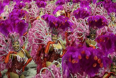 El carnaval de río de janeiro llega a su momento cumbre