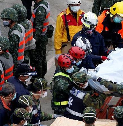 Aumenta a 44 la cifra de muertos tras terremoto de Taiwán