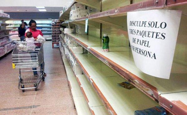 Parlamento venezolano declara 'crisis humanitaria' por falta de alimentos