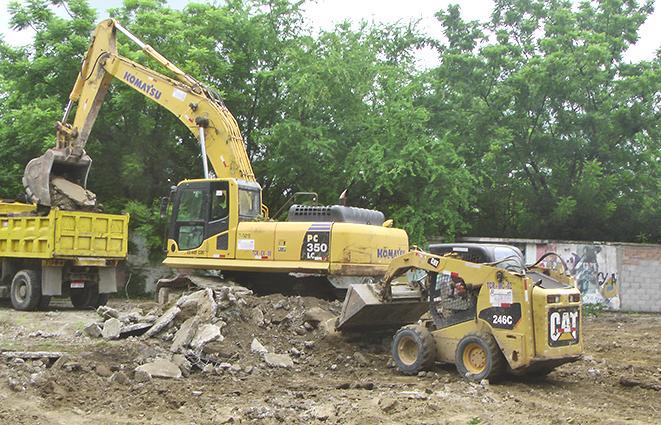 Cercan el área y  empiezan demoliciones en el parque La Rotonda