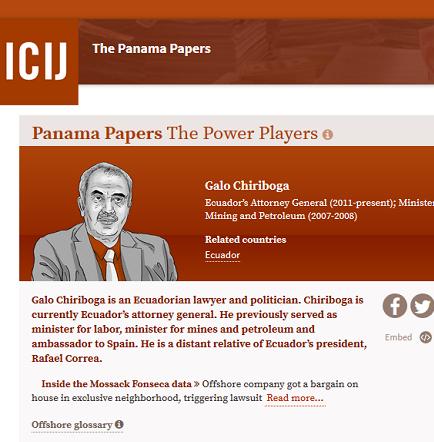 Asambleísta Páez pide renuncia del fiscal Chiriboga, tras polémica de los 'Panama Papers'