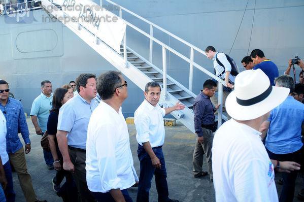 El presidente peruano Ollanta Humala destacó el optimismo de los ecuatorianos en su visita a Manta