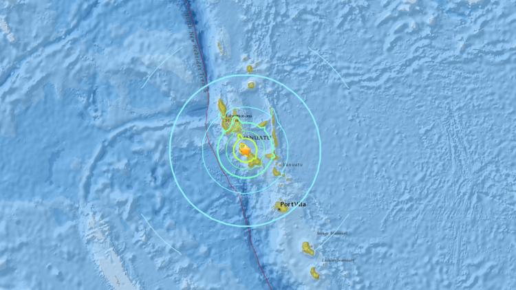 Terremoto de 7,3 grados sacude la isla de Vanuatu, en el océano Pacífico