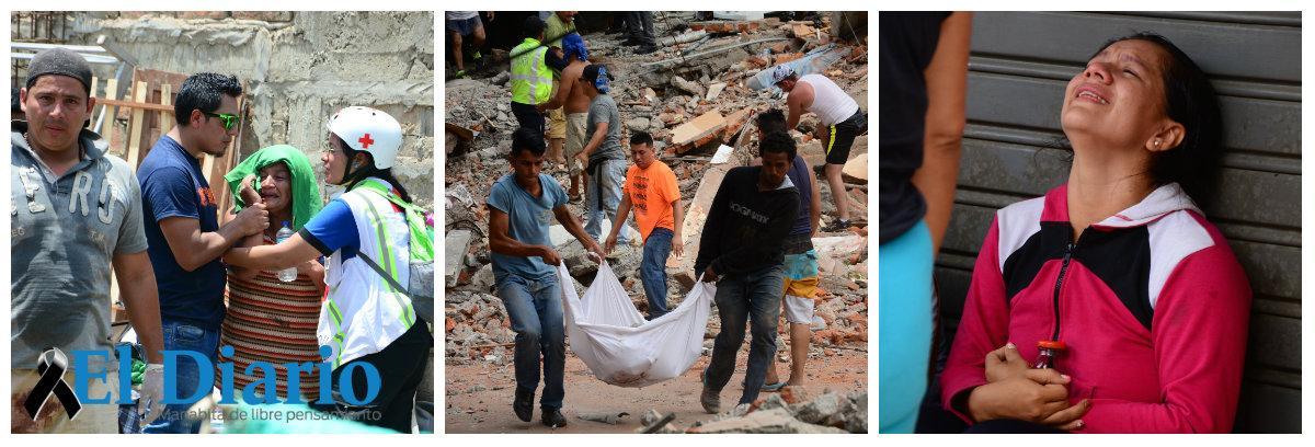 Aumenta a 660 la cifra de fallecidos por terremoto en Ecuador