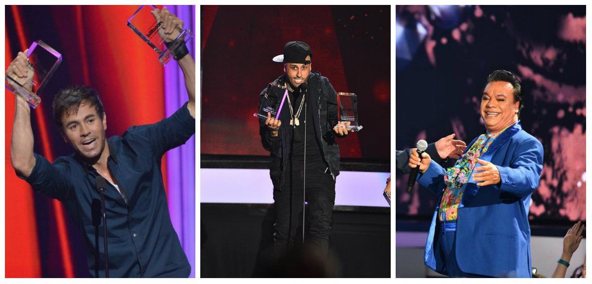 Enrique Iglesias, Nicky Jam y Juan Gabriel arrasan con los Billboard latinos