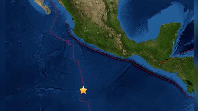 Un terremoto de 6,8 grados sacude el Pacífico a 840 km de la costa mexicana